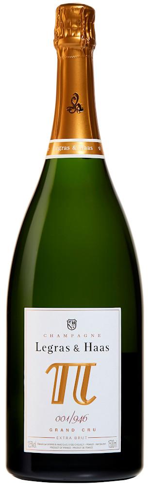 image of Champagne Legras & Haas Cuvée Pi 2 Blanc de Blancs Grand Cru, magnum NV